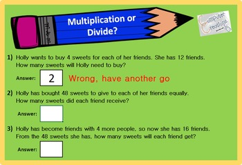 Interactive Math - Multiplication and Division (4.OA.A.2) Self Marking