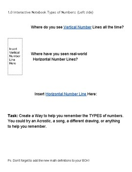 Interactive Math Notebook 1 Numeracy Models
