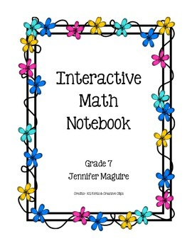 Interactive Math Notebook Part 1
