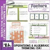 Interactive Math Notebook 4th Grade Operations & Algebraic