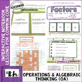 Interactive Math Notebook 4th Grade Operations & Algebraic
