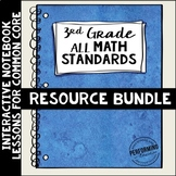 Interactive Math Notebook ALL 3rd Grade Common Core Bundle ENTIRE YEAR