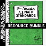 Math Interactive Notebook 5th Grade Bundle Common Core Sta