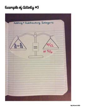 Interactive Math Notebook: Adding & Subtracting Integers {Grade 7}