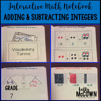 Interactive Math Notebook: Adding & Subtracting Integers {