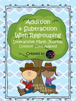 Interactive Math Notebook: Addition And Subtraction with Regrouping