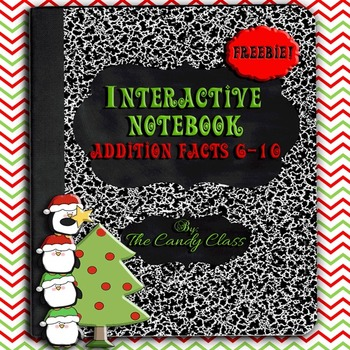 Interactive Math Notebook Addition Facts 6-10 (Free)