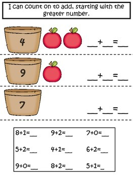 Interactive Math Notebook Addition and Subtraction Facts to 12
