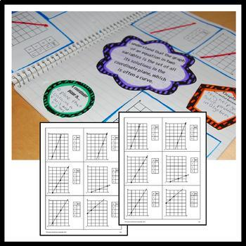Algebra Interactive Notebook Common Core with Scaffolded Notes