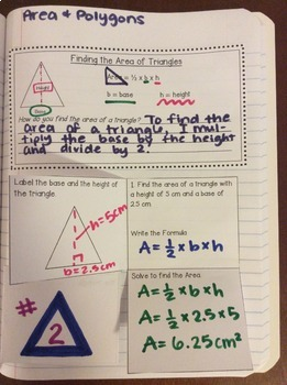 Interactive Math Notebook: Area & Polygons {Grade 6}