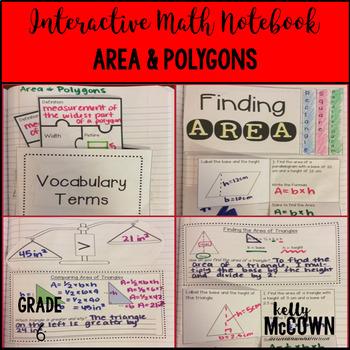 Interactive Math Notebook: Area & Polygons {Grade 6}