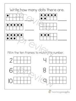 Back to School Interactive Math Notebooks - no cut, no prep!