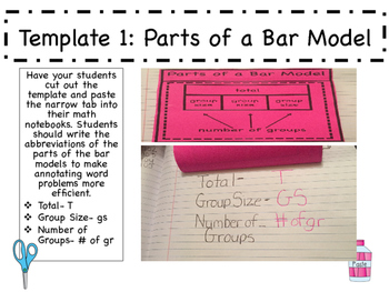 Interactive Math Notebook: Bar Models All Operations