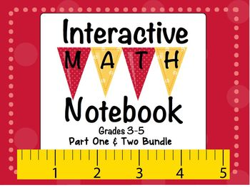 Interactive Math Notebook Bundle 31 Activities Part 1 & 2