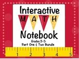 Interactive Math Notebook Bundle 31 Activities Part 1 & 2
