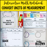 Interactive Math Notebook: Convert Units of Measurement (Grade 5)