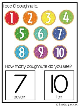 Interactive Math Notebook Counting 1-10 for Special Education