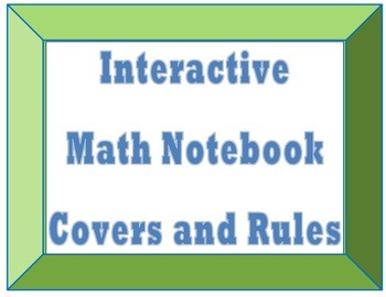 Interactive Math Notebook Cover and Rules