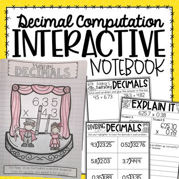 Decimals Interactive Notebook {5.NBT.7}