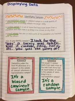 Interactive Math Notebook: Displaying, Analyzing, and Summarizing Data {Grade 6}