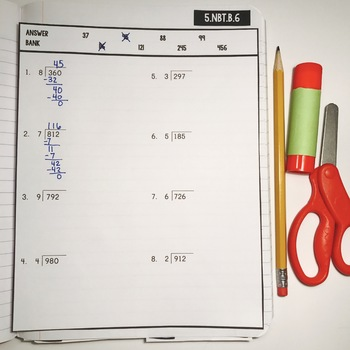 Interactive Math Notebook: Dividing By Whole Numbers {Grade 5}