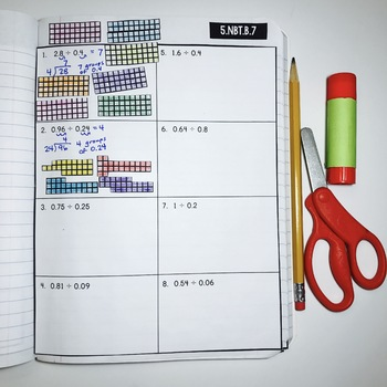 Interactive Math Notebook: Dividing Decimals {Grade 5}