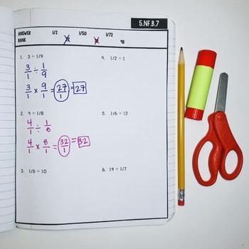 Interactive Math Notebook: Dividing Fractions {Grade 5}