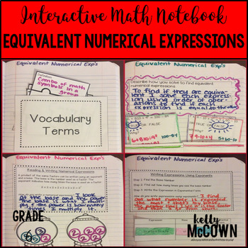 Interactive Math Notebook: Equivalent Numerical Expression