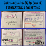 Interactive Math Notebook: Expressions & Equations {Grade 7}