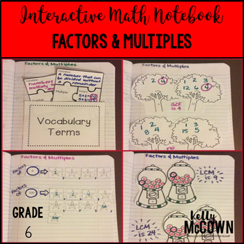 Interactive Math Notebook: Factors & Multiples {Grade 6}