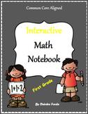 1st Grade Interactive Math Notebook