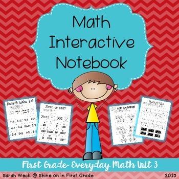 Interactive Math Notebook: First Grade Everyday Math Unit 3