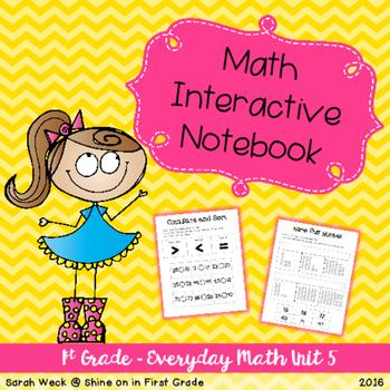 Interactive Math Notebook: First Grade Everyday Math Unit 5