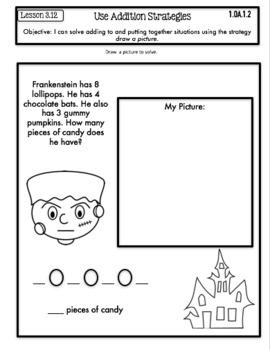 Interactive Math Notebook First Grade Go Math Chapter 3