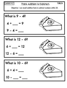 Interactive Math Notebook First Grade Go Math Chapter 4