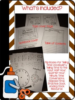 Interactive Math Notebook: Flip Books for Telling Time