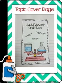 Interactive Math Notebook: Flipbooks for Liquid Volume and Mass