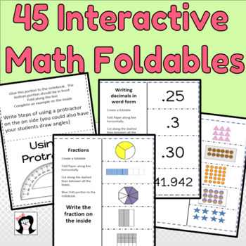 Interactive Math Notebook Foldables
