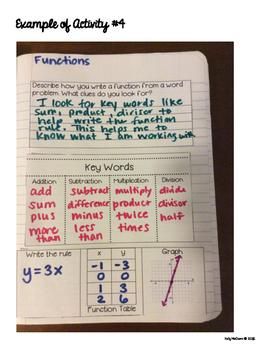 Interactive Math Notebook: Functions {Grade 8}