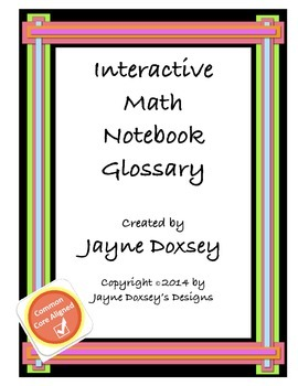Interactive Math Notebook Glossary