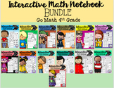 Interactive Math Notebook Go Math 4th Grade BUNDLE