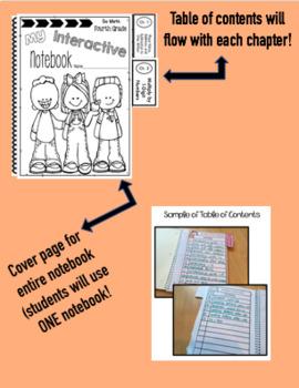 Interactive Math Notebook Go Math 4th Grade BUNDLE