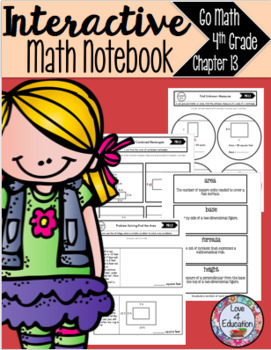 Interactive Math Notebook Go Math 4th Grade Chapter 13