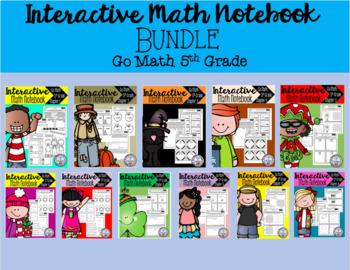 Interactive Math Notebook Go Math Fifth Grade BUNDLE