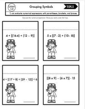 Interactive Math Notebook Go Math Fifth Grade Chapter 1