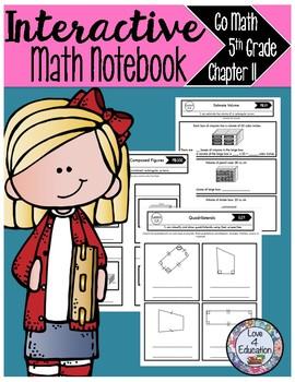 Interactive Math Notebook Go Math Fifth Grade Chapter 11