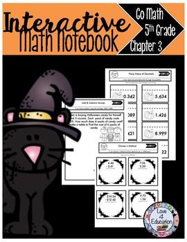Interactive Math Notebook Go Math Fifth Grade Chapter 3