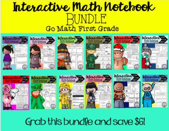 Interactive Math Notebook Go Math First Grade BUNDLE