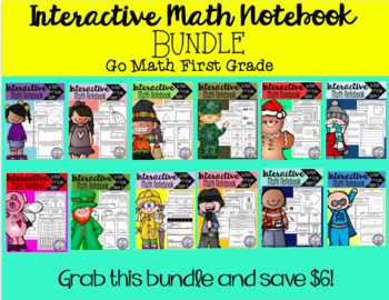 Interactive Math Notebook Go Math First Grade BUNDLE