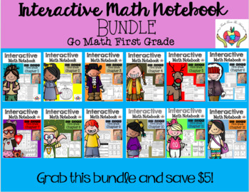 Interactive Math Notebook Go Math First Grade BUNDLE (Ch. 1-12)